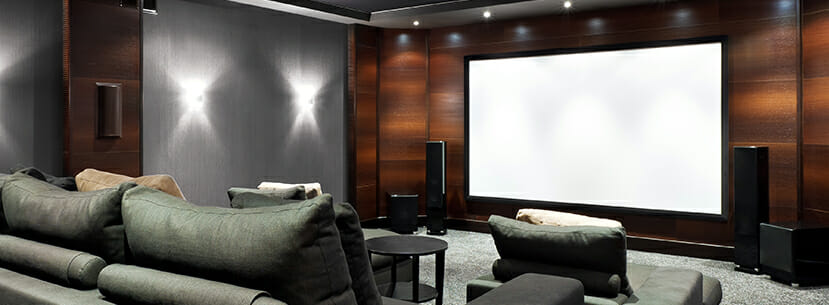 Home Theatre in Luxury Custom Home