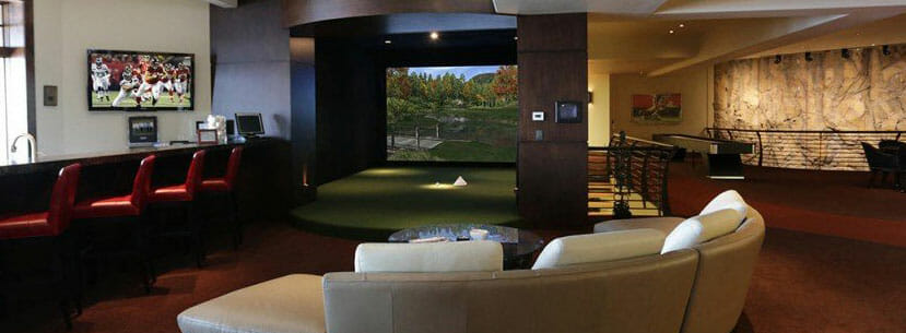 Custom In-Home Basement Golf Simulator