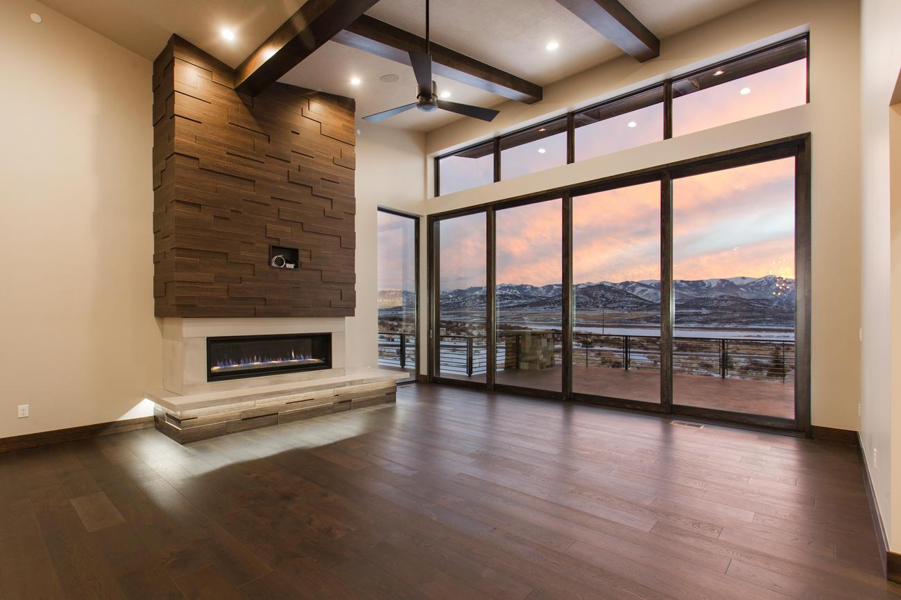A warm, modern interior