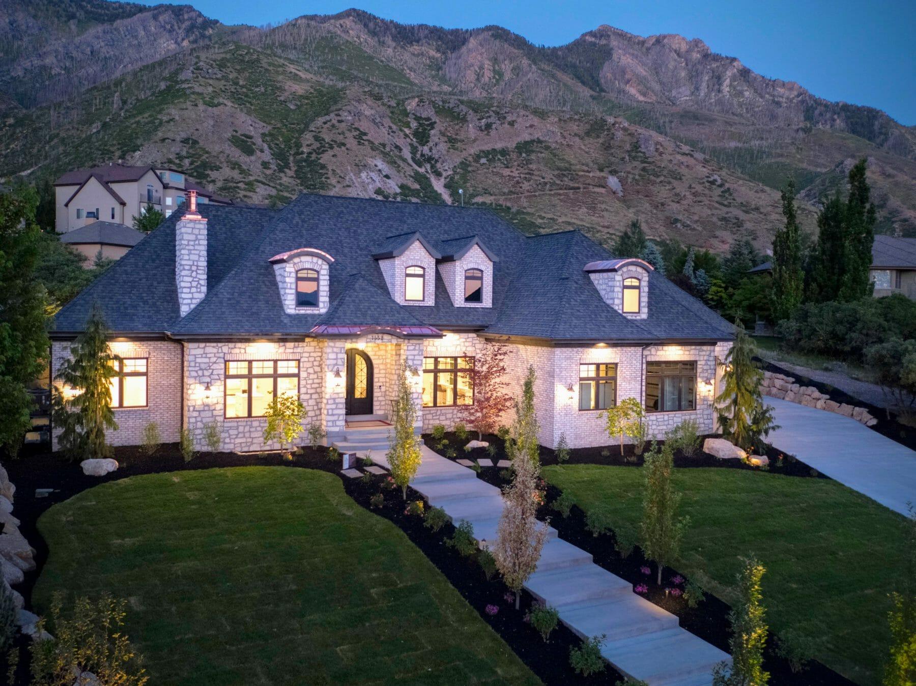 Custom Home Built on Mountainside Utah