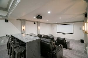 Custom Home Builder Utah Theater Room